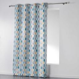 Rideau a oeillets 140 x 260 cm polyester imprime palpito Blanc