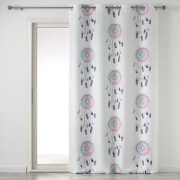 rideau a oeillets 140 x 260 cm polyester imprime pastel dream
