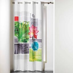 rideau a oeillets 140 x 260 cm polyester imprime payotte