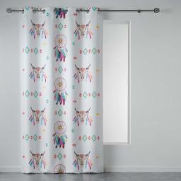 rideau a oeillets 140 x 260 cm polyester imprime phoenix