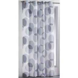 Rideau a oeillets 140 x 260 cm polyester imprime reflecto Gris