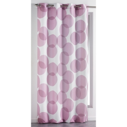 Rideau a oeillets 140 x 260 cm polyester imprime reflecto Rose