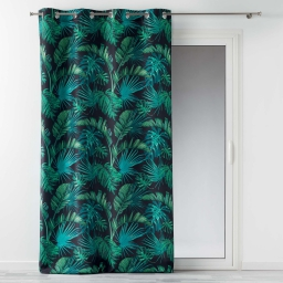 Rideau a oeillets 140 x 260 cm polyester imprime sanya bay Noir