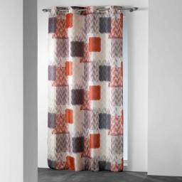 rideau a oeillets 140 x 260 cm polyester imprime squadra