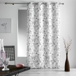 rideau a oeillets 140 x 260 cm polyester imprime tiempo