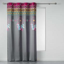 rideau a oeillets 140 x 260 cm polyester imprime topdream