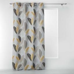 rideau a oeillets 140 x 260 cm polyester imprime tounsy