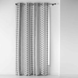rideau a oeillets 140 x 260 cm polyester imprime tribal art