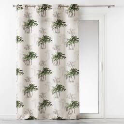 rideau a oeillets 140 x 260 cm polyester imprime tropi palmy