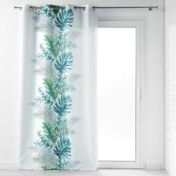 rideau a oeillets 140 x 260 cm polyester imprime tropical chic