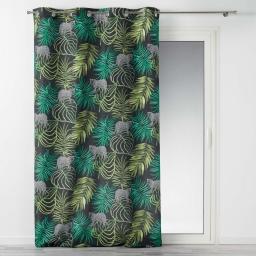 rideau a oeillets 140 x 260 cm polyester imprime tropical green