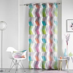 Rideau a oeillets 140 x 260 cm polyester imprime ultragraphic Pastel