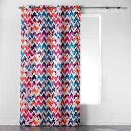 rideau a oeillets 140 x 260 cm polyester imprime zigzagfun