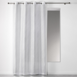 Rideau a oeillets 140 x 260 cm shantung applique scintille Blanc