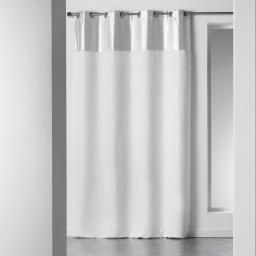 Rideau a oeillets 140 x 260 cm suede argent atomic Blanc