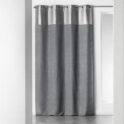 Rideau a oeillets 140 x 260 cm suede argent atomic Gris