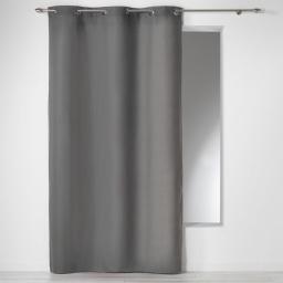 Rideau a oeillets 140 x 280 cm coton uni panama Ardoise