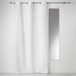 Rideau a oeillets 140 x 280 cm coton uni panama Blanc