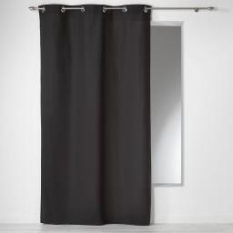 Rideau a oeillets 140 x 280 cm coton uni panama Noir