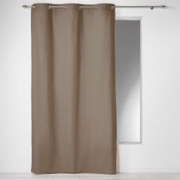 Rideau a oeillets 140 x 280 cm coton uni panama Noisette
