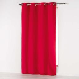 Rideau a oeillets 140 x 280 cm microfibre unie absolu Rouge