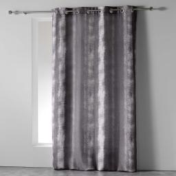 Rideau a oeillets 140 x 280 cm polyester imprime arc en ciel Anthracite