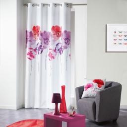 Rideau a oeillets 140 x 280 cm polyester imprime dounia Rouge