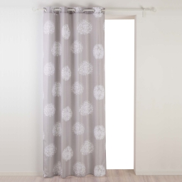 Rideau a oeillets 140 x 280 cm polyester imprime galya Taupe