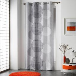 rideau a oeillets 140 x 280 cm polyester imprime misaki