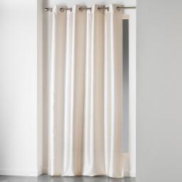 Rideau a oeillets 140 x 280 cm shantung uni shana Naturel