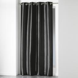 Rideau a oeillets 140 x 280 cm shantung uni shana Noir