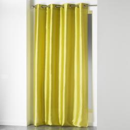 Rideau a oeillets 140 x 280 cm shantung uni shana Vert
