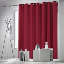 Rideau a oeillets 280 x 260 cm occultant uni occulteo Rouge