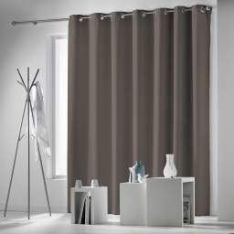 Rideau a oeillets 280 x 260 cm occultant uni occulteo Taupe