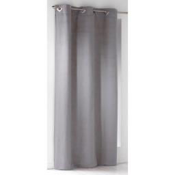 Rideau a oeillets carres 140 x 240 cm suede uni suedine Gris clair
