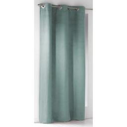 Rideau a oeillets carres 140 x 240 cm suede uni suedine Menthe
