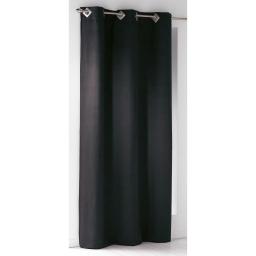 Rideau a oeillets carres 140 x 240 cm suede uni suedine Noir