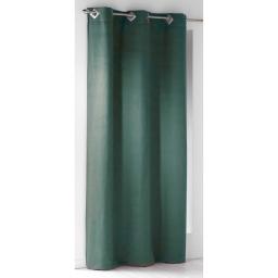 Rideau a oeillets carres 140 x 240 cm suede uni suedine Vert