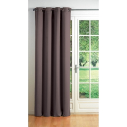 Rideau a oeillets carres 140 x 260 cm occultant uni cocoon Taupe