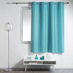 Rideau a oeillets plastique 140 x 180 cm polyester uni essentiel Turquoise