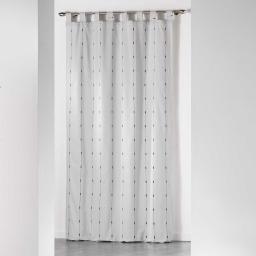 Rideau a passants 140 x 260 cm jacquard bicolore filio Gris