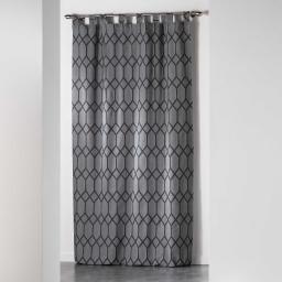 Rideau a passants 140 x 260 cm jacquard bicolore monalise Anthracite