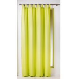 Rideau a passants 140 x 260 cm polyester uni essentiel Anis