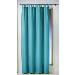 Rideau a passants 140 x 260 cm polyester uni essentiel Bleu