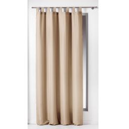 Rideau a passants 140 x 260 cm polyester uni essentiel Lin