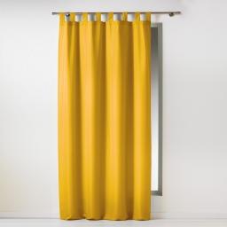 Rideau a passants 140 x 260 cm polyester uni essentiel Miel