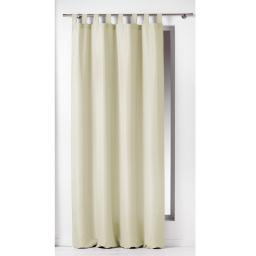 Rideau a passants 140 x 260 cm polyester uni essentiel Naturel