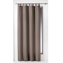Rideau a passants 140 x 260 cm polyester uni essentiel Taupe