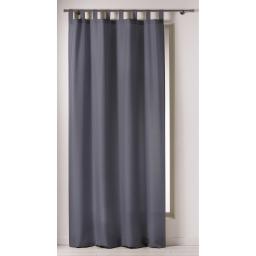 Rideau a passants 140 x 260 cm polyester uni punchy Acier