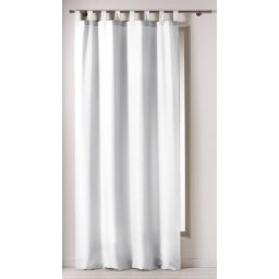 Rideau a passants 140 x 260 cm polyester uni punchy Blanc
